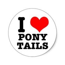 Image result for i love ponytails
