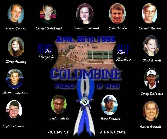 Columbine Shooting Victims Bodies Candlelight vigil for victims